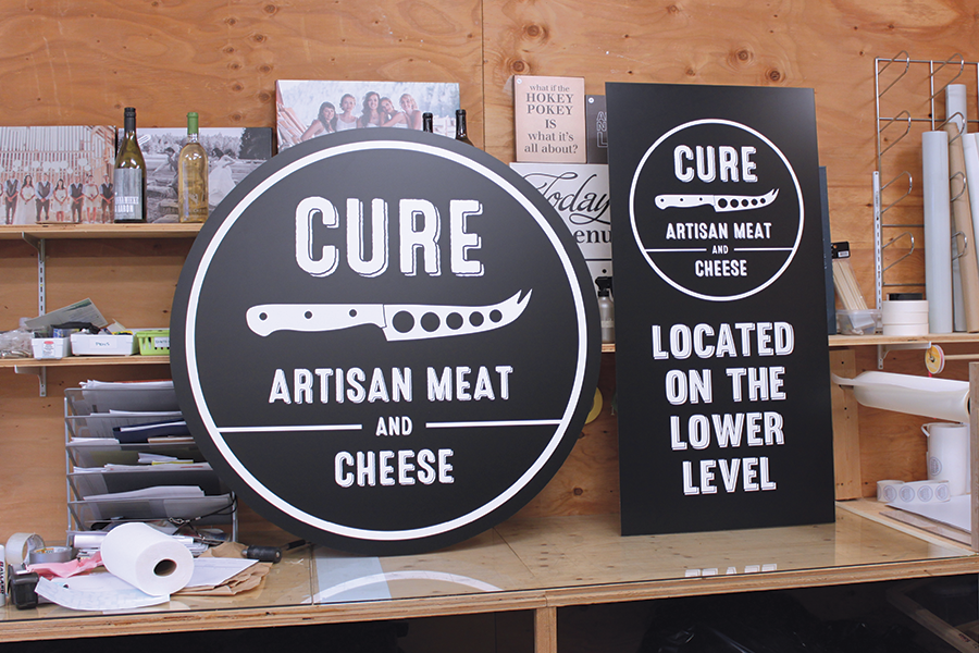 Cure Artisan Meat and Cheese Signs
