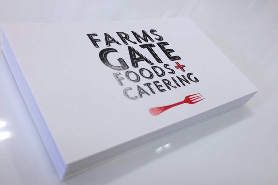 Farms Gate Foods and Catering Business Cards
