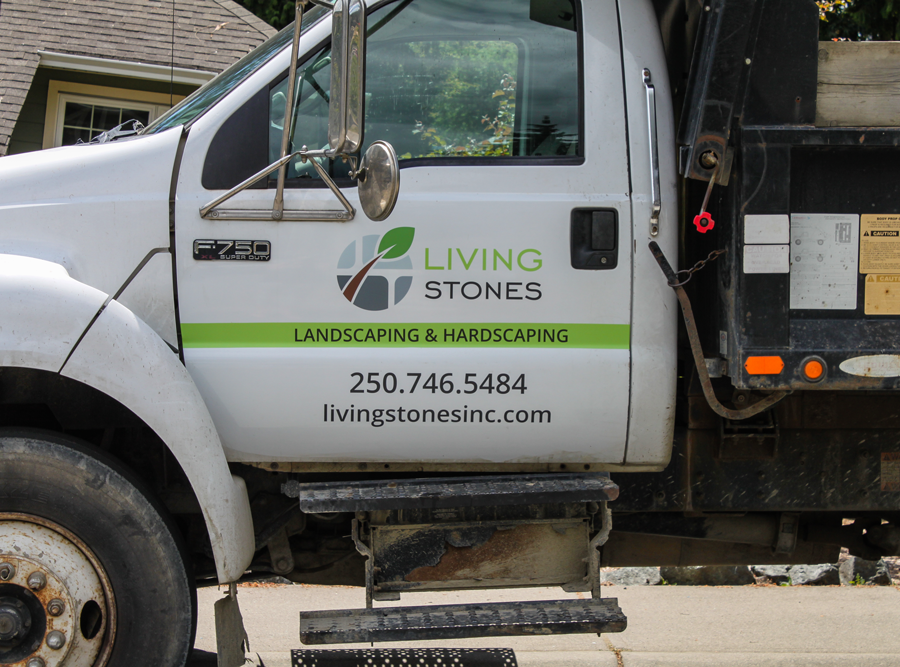 Living Stones Landscaping Truck Decal