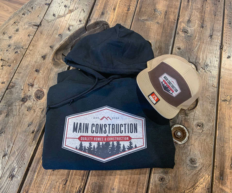 Main Construction Hoodie and Hat