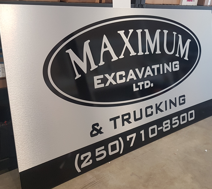 Maximum Excavating Alupanel Sign
